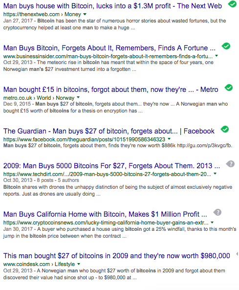 Guy buys bitcoin and forgets about it comparison ethereum bitcoin heres how rich you would be if you bought 1000 worth of bitcoin a year ago ccuart Images